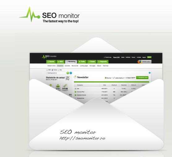 Modul de email marketing.  Creeaza si trimite campanii email, verifica compatibilitatea, gestioneaza abonatii si urmareste rezultatele prin unicul software de analiza web de care vei mai avea nevoie de acum inainte.  #SEO