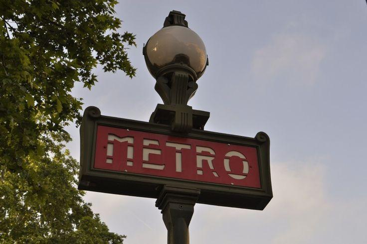 Paris' iconic metro signs!