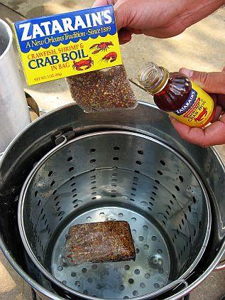 How to host a shrimp boil   http://www.skiptomylou.org/2007/08/27/shrimp-boil/