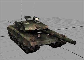Chinese Type Main Battle Tank 99 3D Model-   Chinese Type Main Battle Tank 99 model for games - #3D_model #Tanker