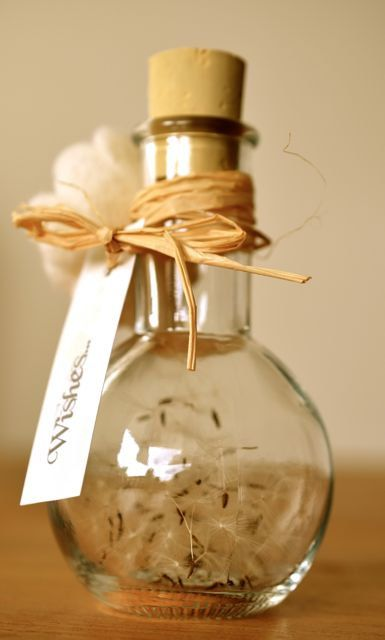 Dandelion Wish Jar.