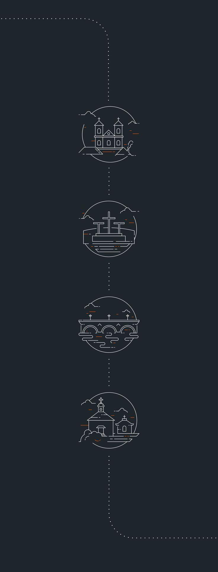 Set of icons made for Bardo. Single Track