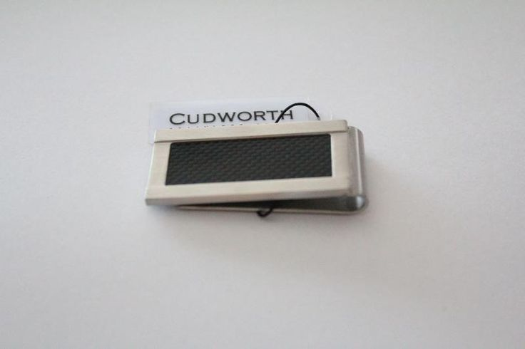 Cudworth Stainless Steel Carbon Fibre Money Clip