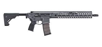 Sig MCX Virtus. Now with M Lok, upgraded trigger, telescoping folding stock, and sniper gray finish.