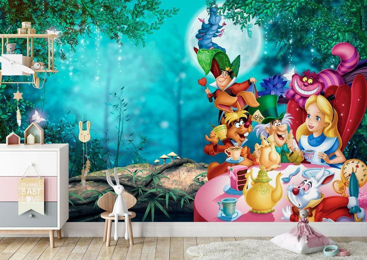 Best Alice In Wonderland 2 Wall Mural Alice Adventures In 400 x 300