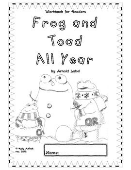 Frog and toad all year writing activities
