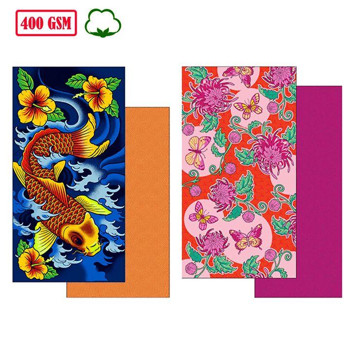 400GSM Cotton Printed Beach Towel 80 x 160 cm by Bambury