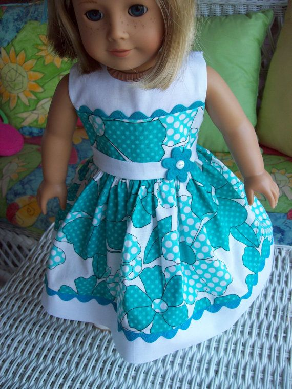 American girl doll or 18 inch doll dress and hair by ASewSewShop