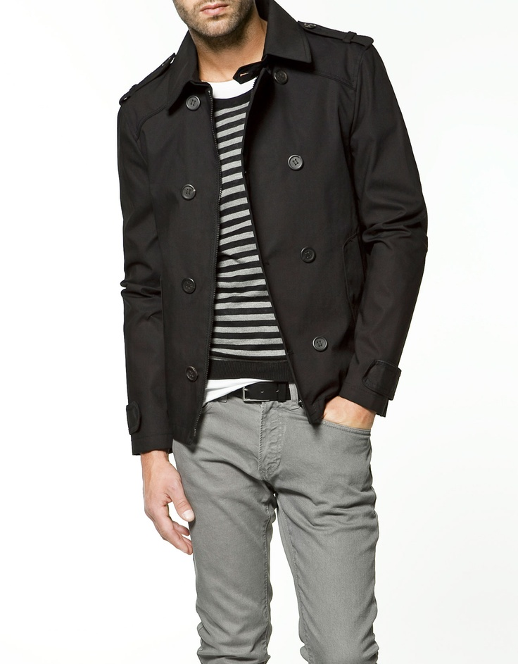 Jacket.  Stripes.   Pants.  Belt.  EPIC WIN.  Zara.  #mens  #fashion  #FTW~this would look nice on Bill.