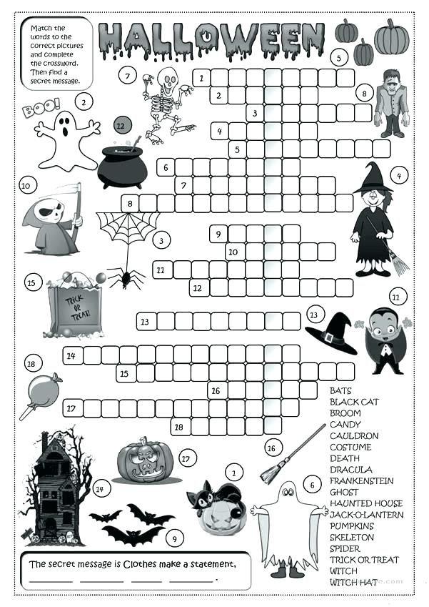 Halloween Rhyming Worksheet For Educations. Halloween
