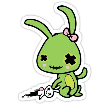 cute zombie bunny