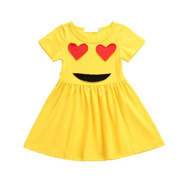 Baby Girl Emoji Dress