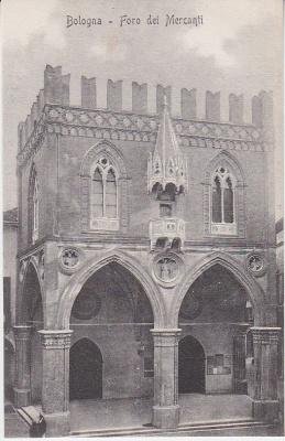 Al Trust delle Cartoline Postcard - Bologna - Foro dei Mercanti  c1909
