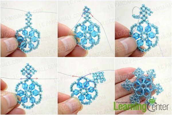 Make the six corners of your snowflake