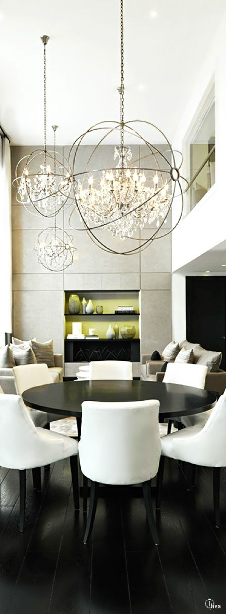 follow city girl at link httpswwwpinterestcom luxury dining roomdining room modernelegant - Contemporary Dining Room Chandeliers
