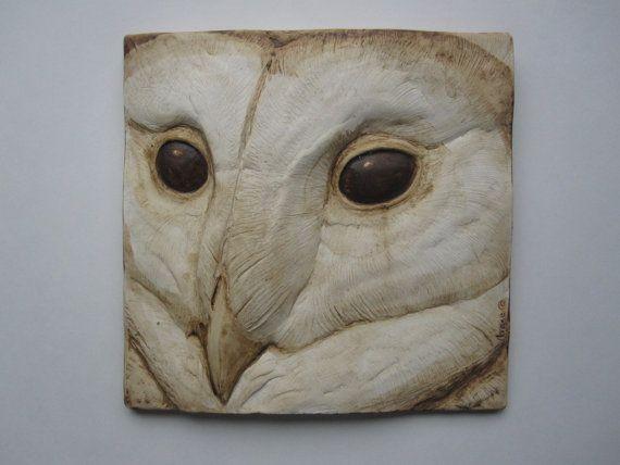 Barn Owl Wallsculpture by SculptureGeek on Etsy, $39.95