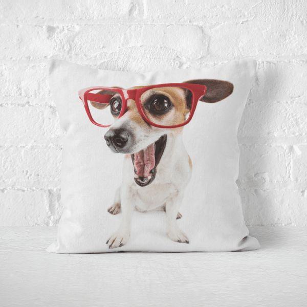Poduszka z wesołym pieskiem w okularach