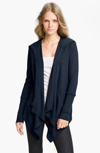 Splendid Draped Thermal Hoodie available at #Nordstrom