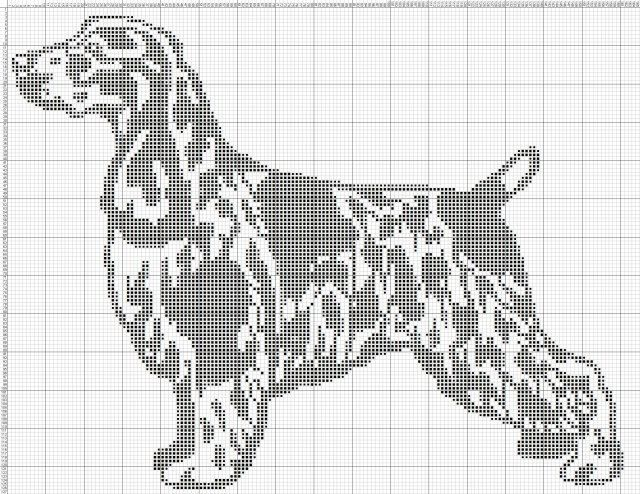 Gallery.ru / Фото #58 - собаки, схемы вышивок из интернета - poodel