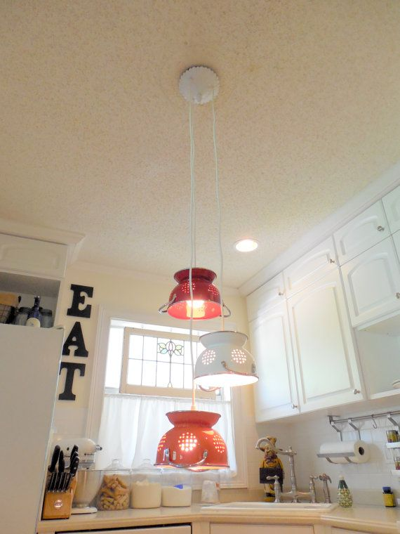 Hanging COLANDER LIGHT CLUSTER