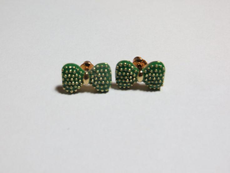 Green Bowknot Earrings