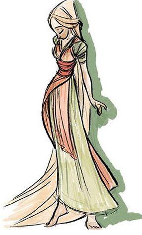 Illustrated Ladies (disney-concept-art: Tangled)