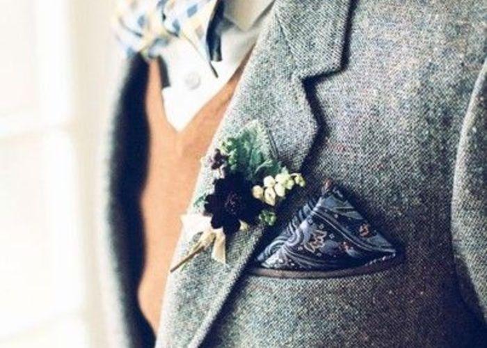 【結婚式】新郎・ゲストのおしゃれなポケットチーフの折り方選び方