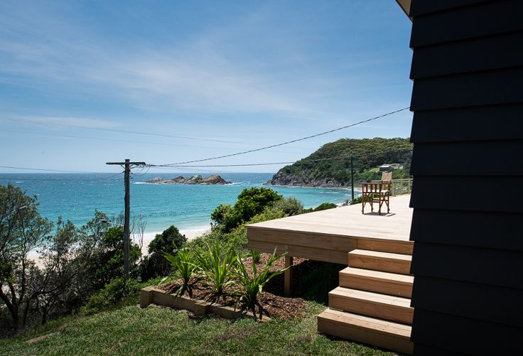 Nice view from the deck of this beach shack at Seal Rocks NSW - desire to inspire - desiretoinspire.net