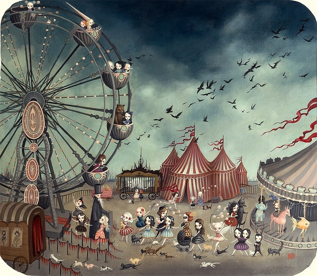 The Ferris Wheel by Mab Graves by mab graves, via Flickr