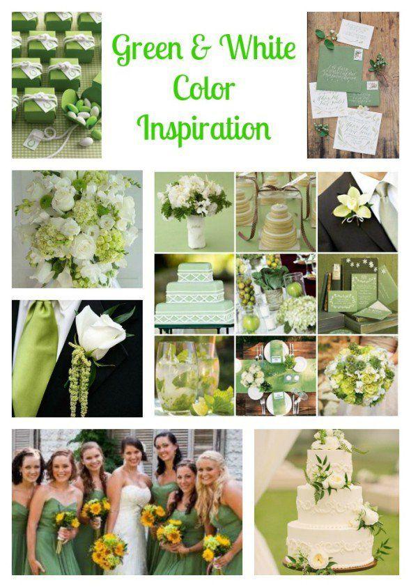 Green U0026 White Wedding Ideas