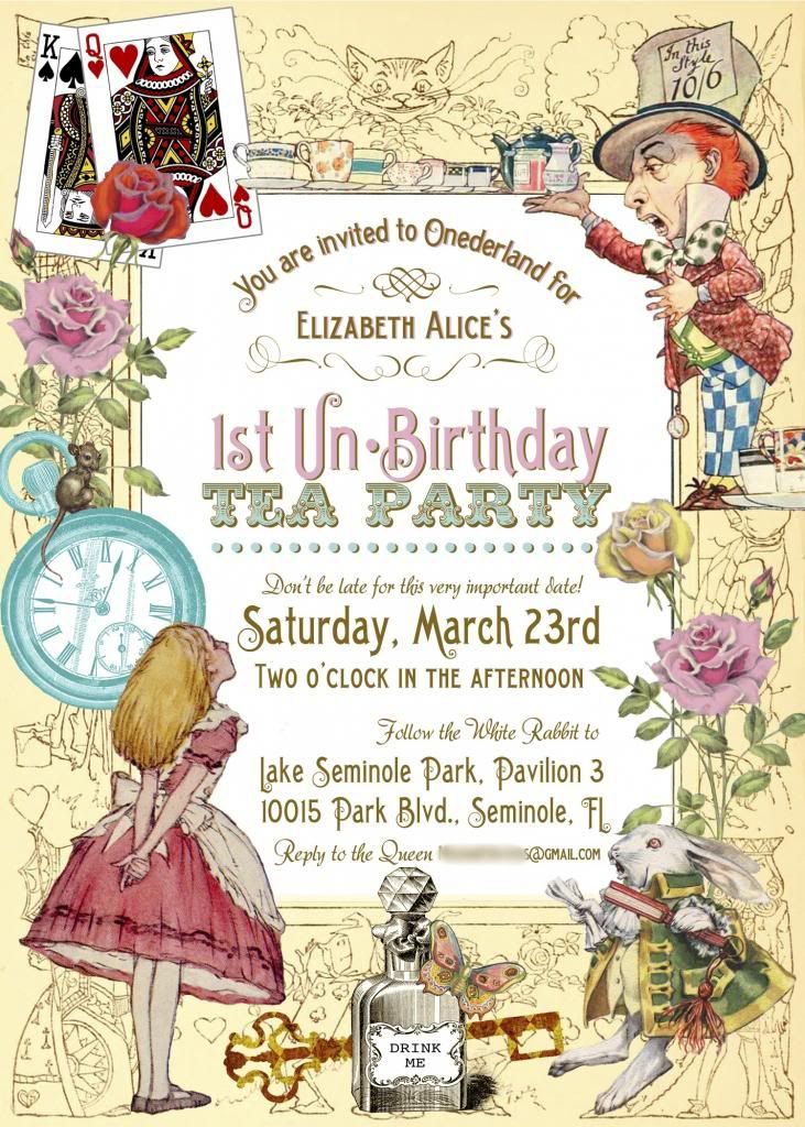 best 25+ alice in wonderland invitations ideas on pinterest, Birthday invitations