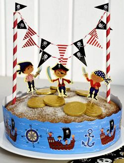 Pirate cake decorating kit