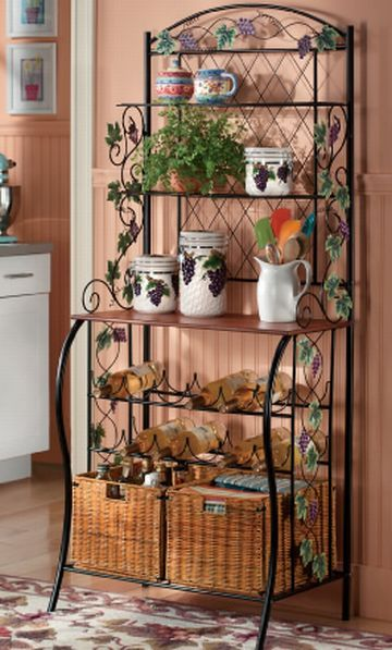 44 best images about ideas for decorating bakers rack on
