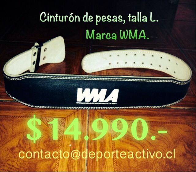 Cinturón de pesas Talla L $14.990.-