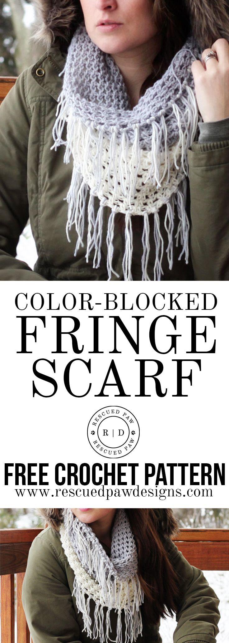 Crochet Cowl Pattern Gracelyn Fringe ⋆ Rescued Paw Designs