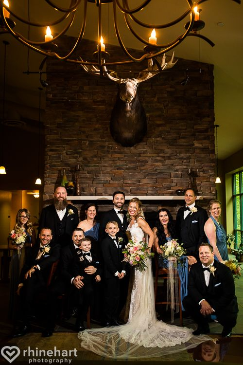 Lake Raystown Resort Wedding Photographers Full Moon Lounge Bridal Party Moose