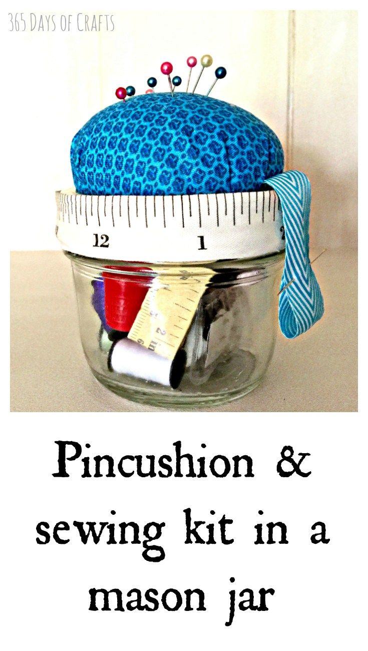DIY sewing kit to make as a gift. Perfect for a new graduate or end of the year teacher gift.