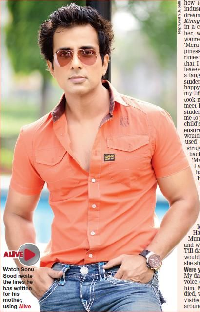 Watch Sonu Sood recite the lines he has written for his mother, using Alive..