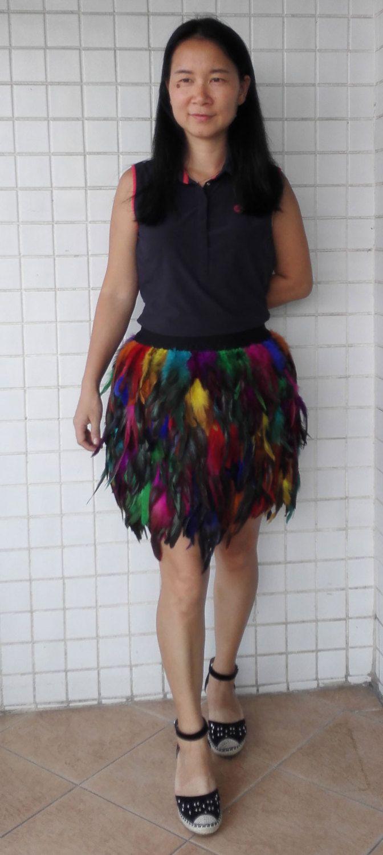 Regenboog kleur haan coque veer rok met door FrancesBoutiqueHouse