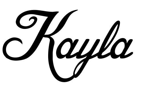 Graffiti Name Kayla Coloring Pages