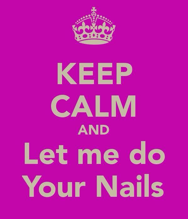 """""""Keep calm and let me do your nails"""" er zijn nog een aantal vrije data/tijdstippen;  Maandag 23 maart om 13:00 uur Dinsdag 24 maart om 09:00 uur Dinsdag 24 maart om 13:00 uur Donderdag 26 maart om 13:00 uur  - Nieuwe set french manicure €. 10,00* - Nieuwe set naturel €. 7,50 - Manicure; nagelriemen verzorgen, vijlen, polijsten    en (blanke) nagellak €. 7,50  * Tijdens mijn opleiding vraag ik een kleine vergoeding ivm de kosten van de materialen.  Op afspraak via Facebook.com/Sabriene Immers"""