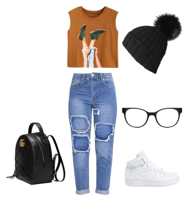 """""""Untitled #24"""" by sarii-syafitri on Polyvore featuring NIKE, Gucci, Black and Chico's"""