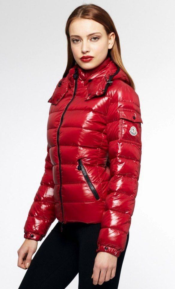 Stunning In Red Hot Moncler Bady · Puffy JacketDown ...
