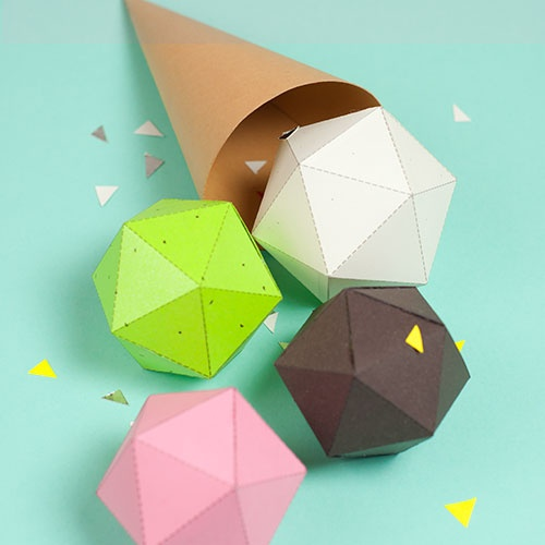 Paper food by Ruigwerk #4: Paper Food, Cat, Paper Icecream, Paper Shape, Crafttut, Kids Ice, 4 Kids, Kids Toys, Crafts