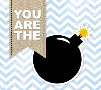 """Laat iemand weten dat je trots op ze bent en stuur deze leuke kaart uit de collectie """"compliment"""" van Hallmark."""