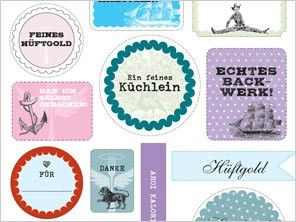 28 tags for homebaked goods (text in German) - LECKER