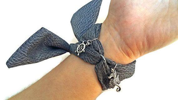Silver Gray Boho Wrap Watch for Women Wrist by HarmonyHourWatches