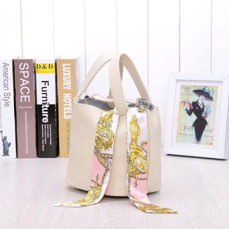 Comprar moda bolsos de cuero de marca baratos bolsa de cubo para mujeres bolso canasta mujer
