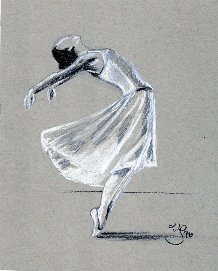 Original Drawing - 8 x 10 - Ballerina - Pastel by jamiepbruno on Etsy