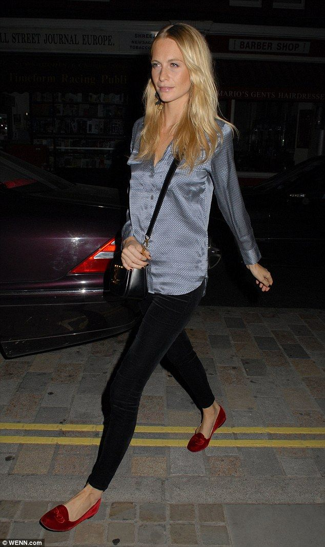 Silky siren: Poppy Delevingne headed to Chiltern Firehouse in London on Thursday night in ...